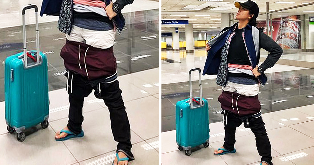 Airline Passenger Wears All Of Her Clothes To Avoid Paying Excess Baggage Charges