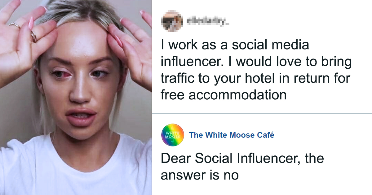 20 Influencers Got Hit Back Hard For Their 'Exposure' Offer For Free Things