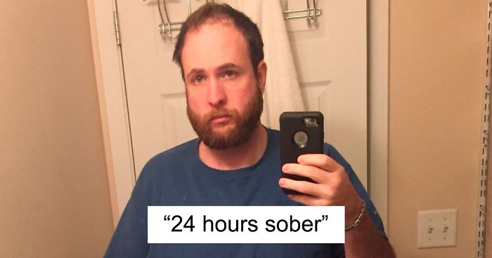 Guy Stops Drinking Alcohol And Shows How Much Sobriety Changed Him In 3 Years