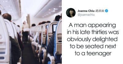 Creepy Man Gets Seated Next To A Teen On A Plane, Luckily Another Passenger Overhears It