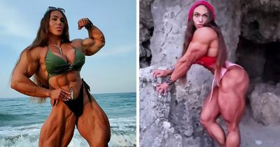 This World Champion Bodybuilder Doesn't Mind That Her Husband Has Smaller Biceps