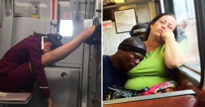 20 Times People Caught Napping In Hilariously Awkward Positions