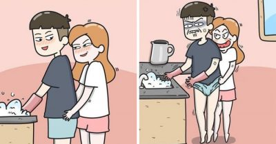 Artist's 30 Hilarious Comics About Everyday Life Of Couple