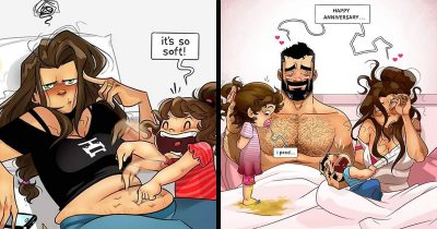 Artist Duo's 17 Funny Comics About How They Welcomed Their Newborn Son