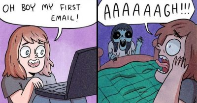 30 Hilarious Comics With Sudden Dark Twists By Ruth Young