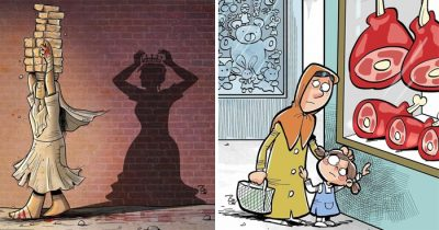 Iranian Artist Draws The Urgency Of World Problems In These 25 Illustrations